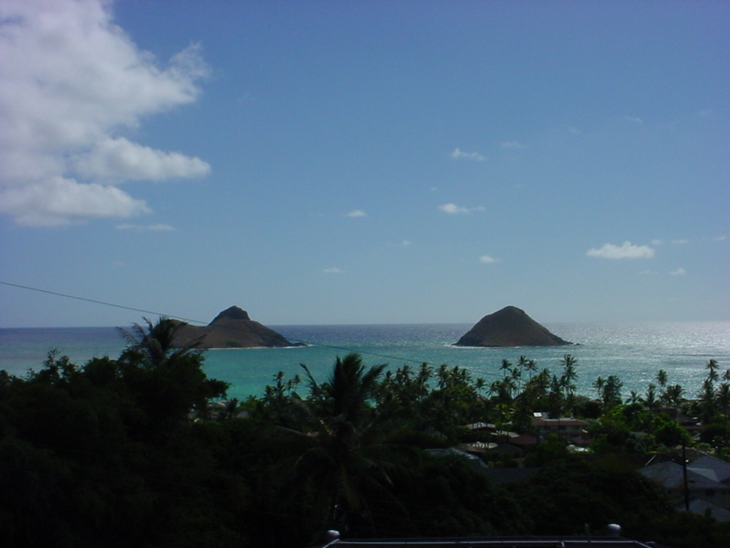 The symmetry of two islands sooths and comforts tired eyes in Kailua