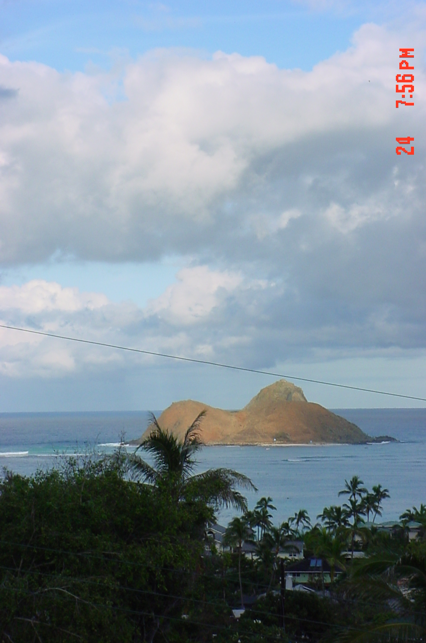 A rainbow is a daily treat somewhere on Oahu. Today it was in Lanikai.